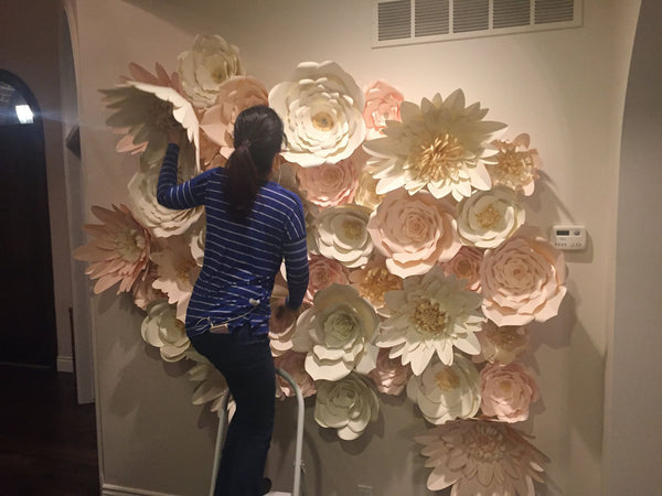 Making the Miriam Paper Flower Wall