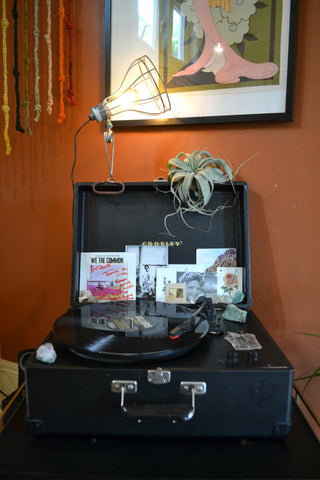 Home Tour with Atiana Kuriyama. Record player