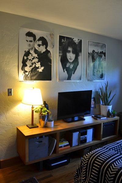 Music Posters and modern lines - Eclectic Home Tour for Artifactpdx.com