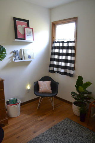 Washington Home Tour with Summer Wick. Midcentury modern furniture, fiddle fig plant, childens room, kids room