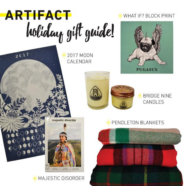 Home Decor Gift Guide from your local vintage shop Artifact Creative Recycle.