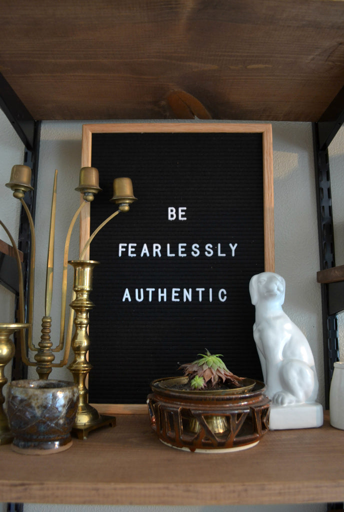 Artifact Home Tour with Sarah Voss of Trouvaille Lifestyle Shop. Be Fearlessly Authentic