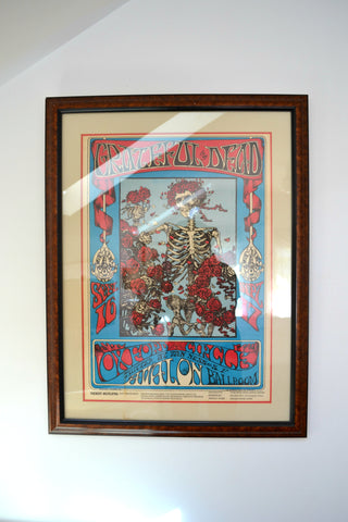 Home tour with Portland artists, Michelle Rajotte & Chris Howell. Greatful Dead concert poster