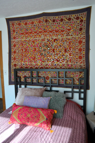 Guest room, turkish textile, wall hanging