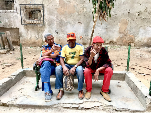Three men passing the time in La Havana Vieja Cuba