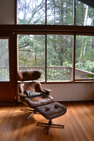 Washington Home Tour with Summer Wick. Midcentury modern furniture, Portland pillow,