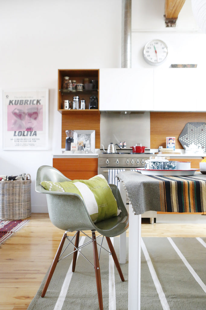 Home Tour with Portland Interior Designer, Max Humphrey. Eames chair, modern kitchen