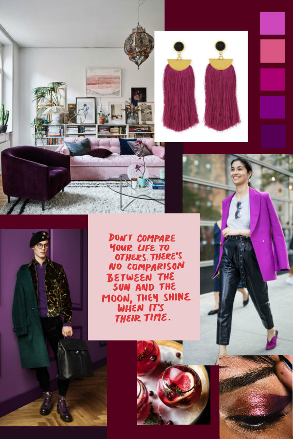Artifact's November Monthly Moodboard of rich tones of plum!