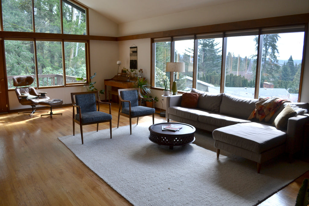 Washington Home Tour with Summer Wick. Midcentury modern furniture, plants,