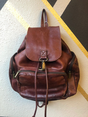 Backpack - Rugged Brown Leather Backpack