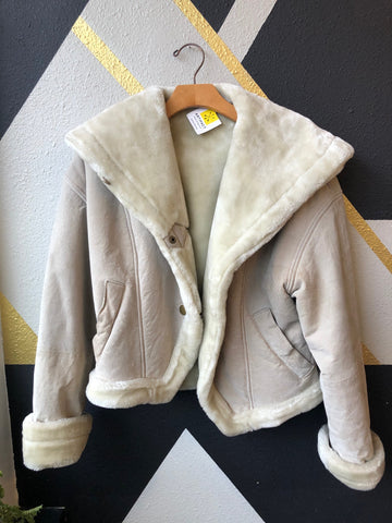 Clothing - Retro Synergy 80's Suede Faux Fur Coat