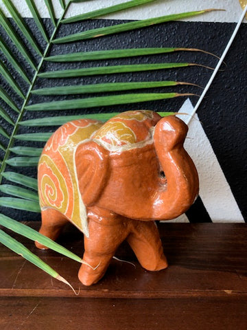Home Decor - Clay Elephant Statue