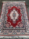 5'x3' Red Medallion Rug