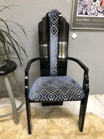 Art Deco 80's Designer Chair with Arms