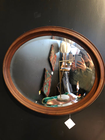 Antique Style Oval Wall Mirror