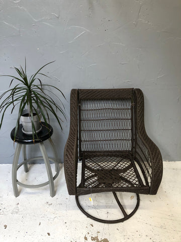 Rocking brown outdoor chair
