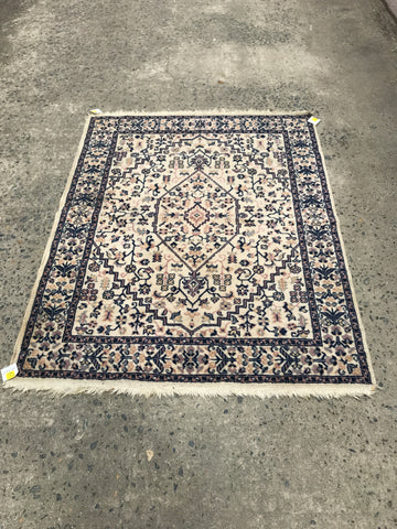 Beige and Blue Rug