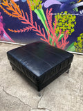 Modern Black Leather Ottoman Table