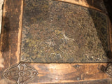 Antique Floral Treasure Chest Trunk