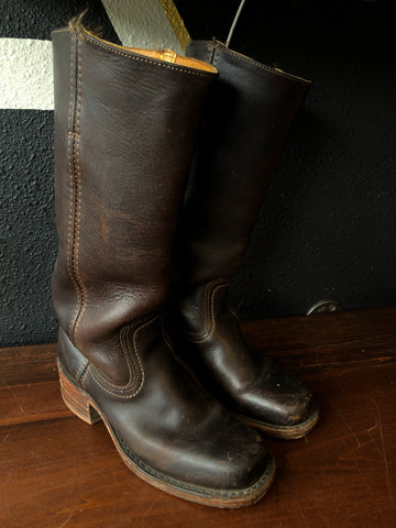 Sz7 FRYE Dark Brown Leather Boots