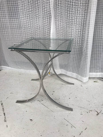 Simple modern glass table