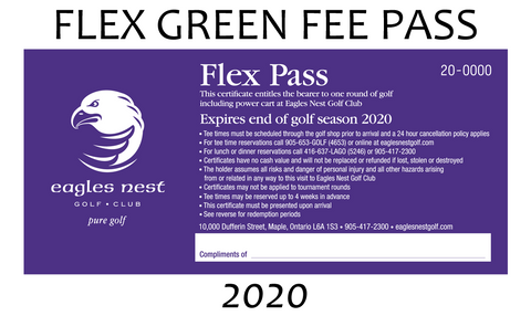 2020 FLEX GREEN FEE PASS