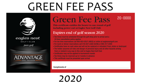 2020 UNRESTRICTED GREEN FEE PASS