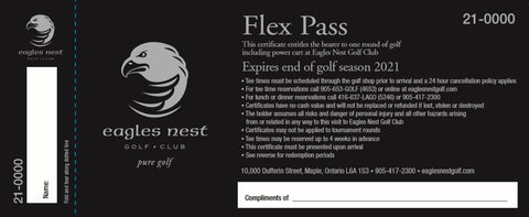 2021 FLEX GREEN FEE PASS