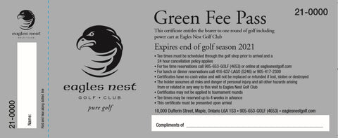 2021 UNRESTRICTED GREEN FEE PASS
