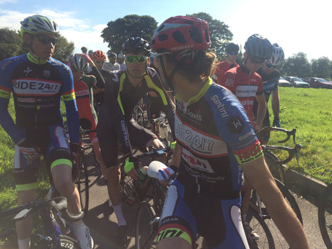 Ride 24/7 riders at the start of the Cotswold League race
