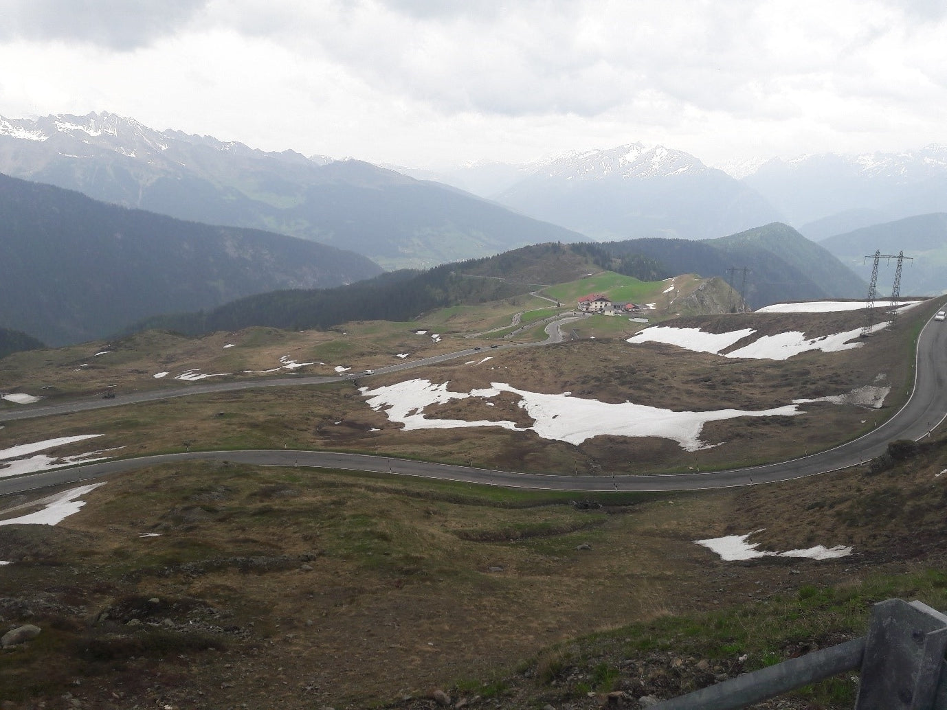 The view from atop the Jaufenpass. An enjoyable HC climb.
