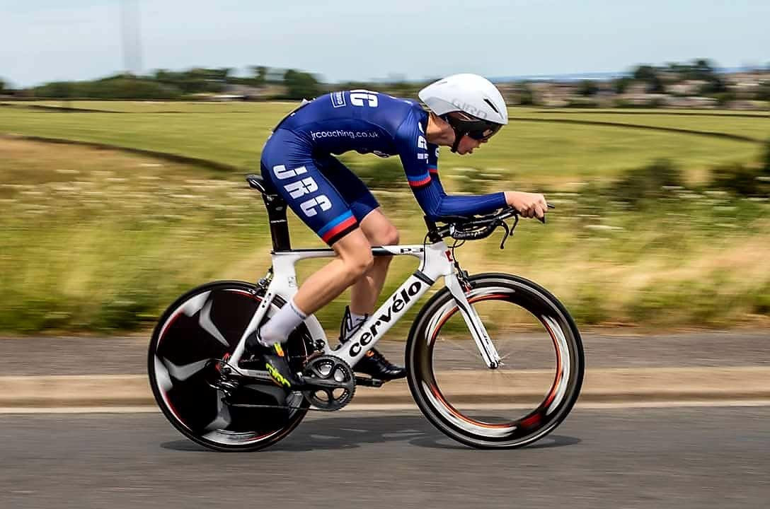 Team JRC skinsuit in action