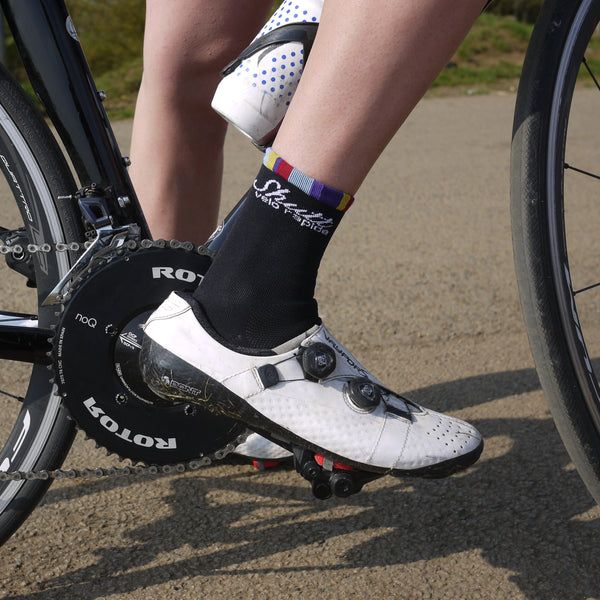 Black Cycling Socks 13cm
