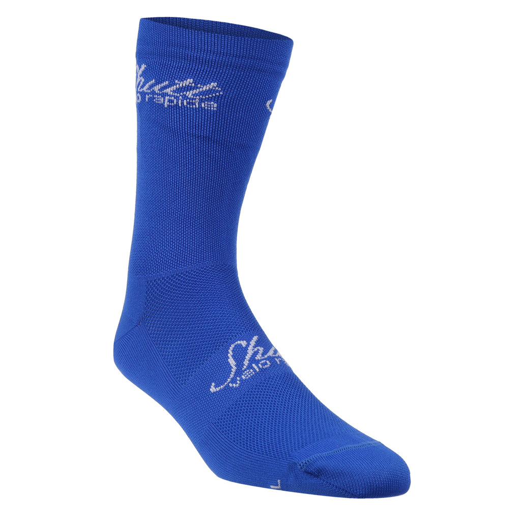 Strong Blue Cycling Socks