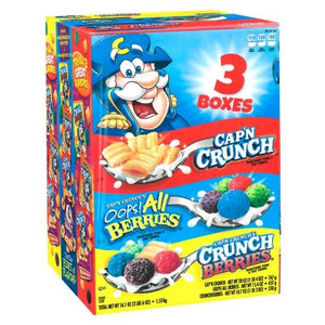Cap'n Crunch Sweetened Corn & Oat Cereal, Variety Pack (54.1 oz., 3 pk.)