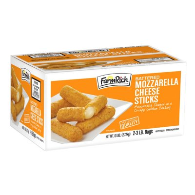 Farm Rich Breaded Mozzarella Sticks (3 lb. bag, 2 ct.)-1