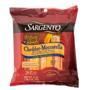 Sargento Cheddar-Mozzarella Cheese Sticks (28 ct.)