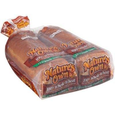 Nature's Own 100% Whole Wheat Bread (20 oz. loaf, 2 ct.)