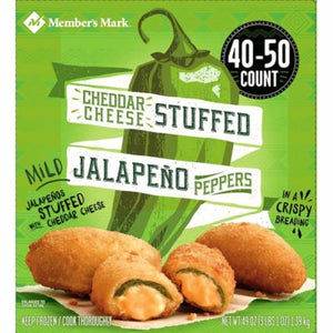 Member's Mark Breaded Cheddar Cheese Stuffed Jalapeno Peppers (40...-1