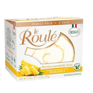 Le Roule Premium Spreadable Cheese Hand-Rolled with Pineapple (4.4 oz ea.,...