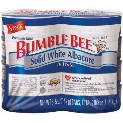 Bumble Bee Solid White Albacore in Water (5 oz. can, 8 pk.)-1
