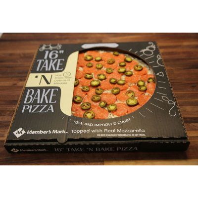 "Member's Mark 16"" Take & Bake Pepperoni Jalapeno Pizza-1"