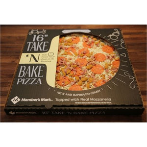 "Member's Mark 16"" Take & Bake Three Meat Pizza-1"