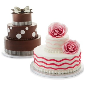 2 Tier White Cake with But'r'Cr?me Icing