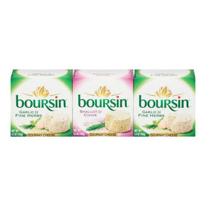 Boursin Garlic Herb and Shallot Chive Cheese (5.2 oz. each, 3 pk.)-1