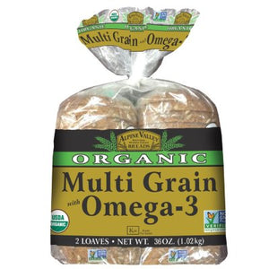 Alpine Valley Organic Multi Grain Bread, Omega-3 (18 oz., 2 pk.)