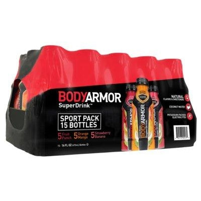 BODYARMOR Sports Drinks Variety Pack (16 fl. oz. bottles, 15 ct.)
