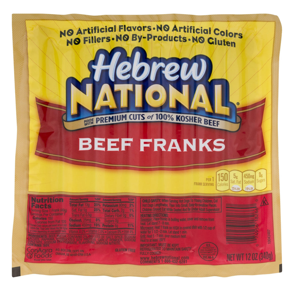 Hebrew National Beef Franks (12 oz)