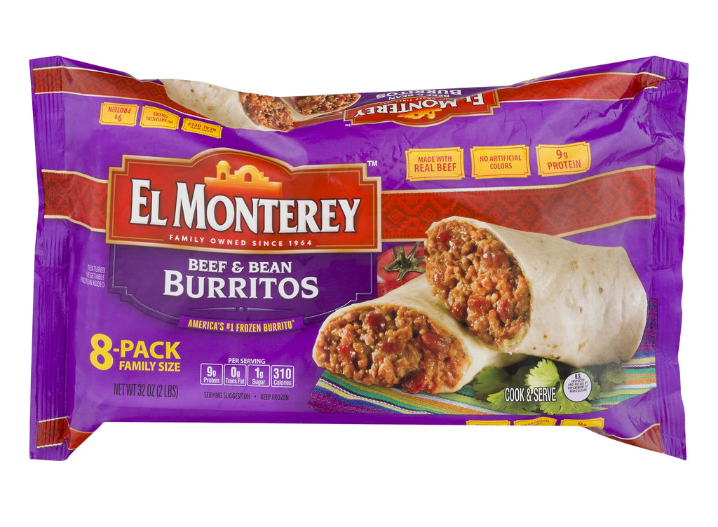 El Monterey Beef and Bean Burritos (8 ct.)