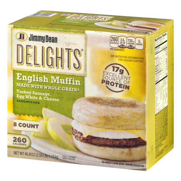 Jimmy Dean Turkey Sausage Breakfast Sandwich - 1 SANDWICH